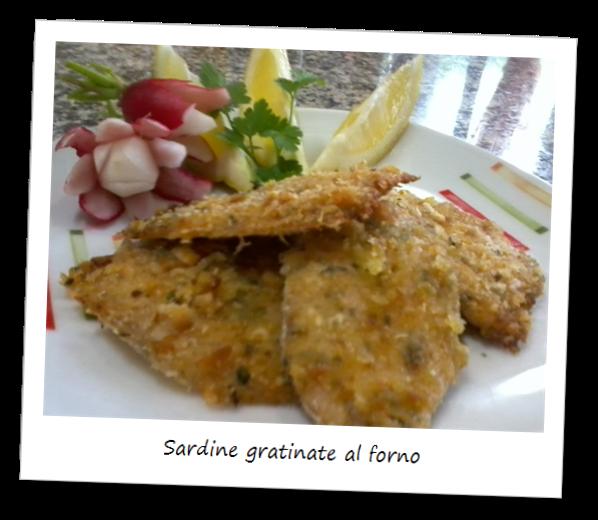 Immagine del piatto sardine gratinate al forno