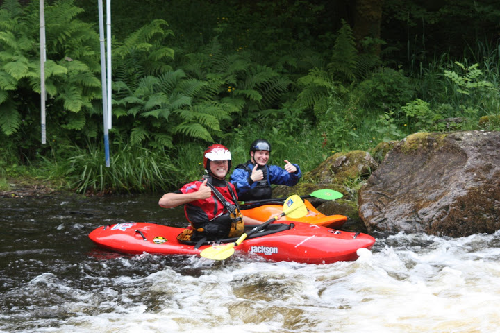 Dave and I after running Miss Davies' Bridge rapid
