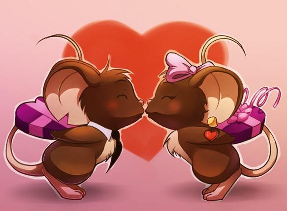 ratinhos se beijando - evento do dia dos namos