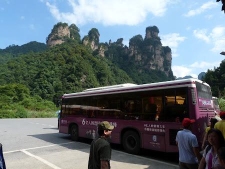 Imagini China: autobuz prin Avatar