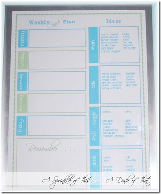 Lundh Planner {A Sprinkle of This . . . . A Dash of That}