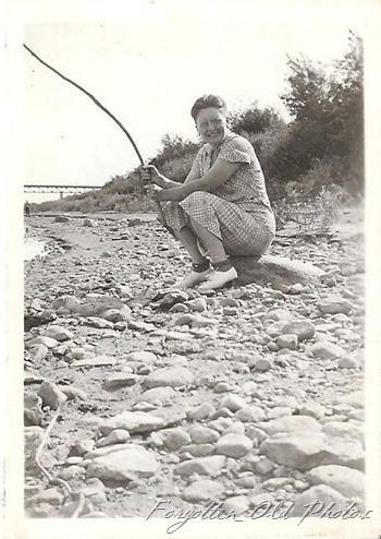 Gertrude fishing  Moorhead Ant