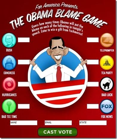 Obama Blame Game