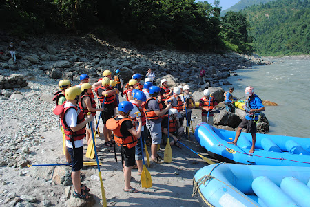Training rafting
