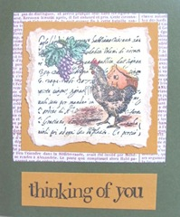 chicken n grapes thinking of you card