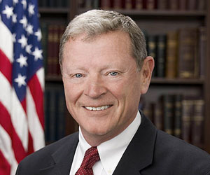 Senator James Inhofe of Oklahoma has alleged that thousands of scientists working independently over decades are actually part of 'the greatest hoax' to fake climate science. Photo: via PsyPost