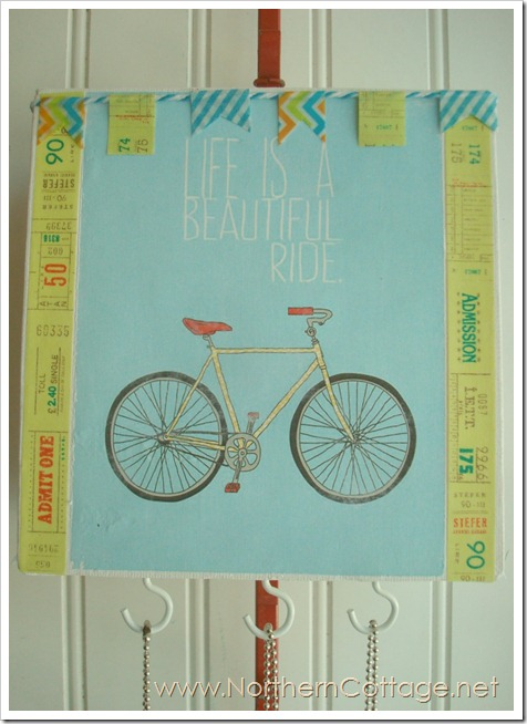 bicycle jewelry canvas @NorthernCottage.net