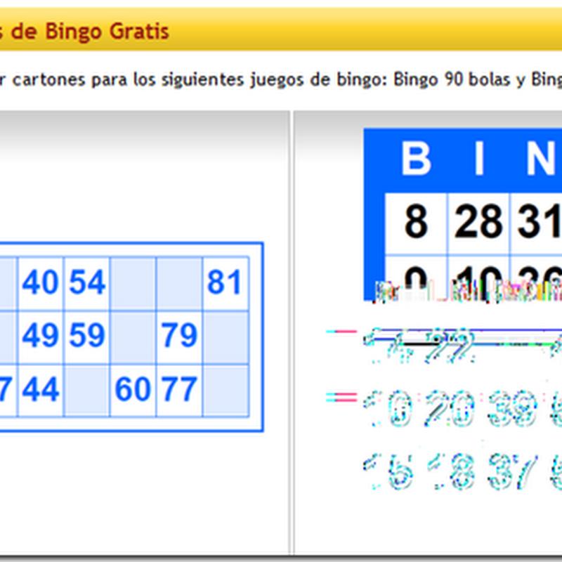 Generador de cartones de bingo gratis