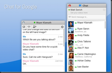 Chat for Google chrome