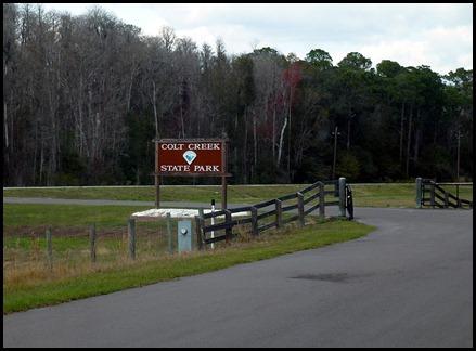 02 - Colt Creek State Park - Sign