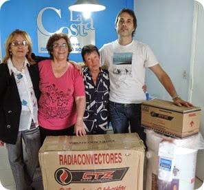 El secretario de Desarrollo Social, Facundo Nores, junto a Inés García, Mirta Amestoy y Antonieta Chiniellato, de la comisión de CAFA