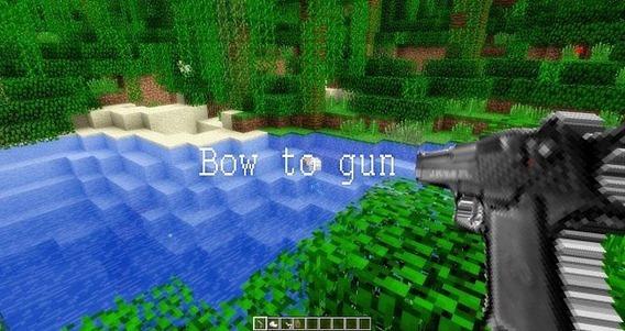 Bow-to-Gun-Texture-pack -Minecraft