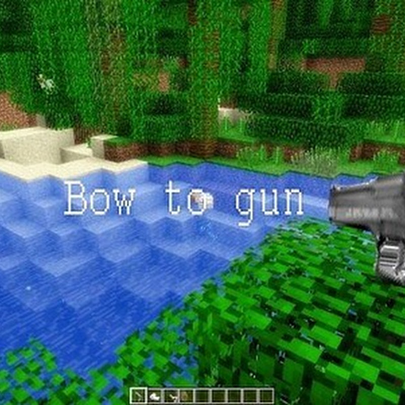Minecraft 1.4.5 - Bow to Gun Texture pack