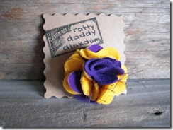 lsu tigers felt flower pin