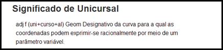 unicursal
