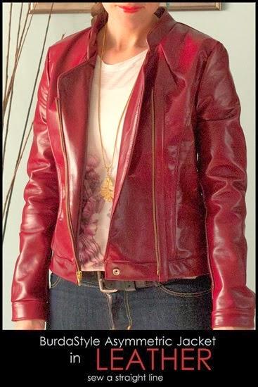 burda style assymetrical jacket leather Sew a Straight Line-9-2