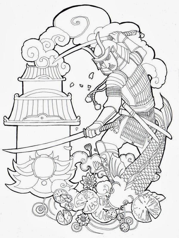 New Line Art Design : Tatuaggi e disegni demone giapponese disegno