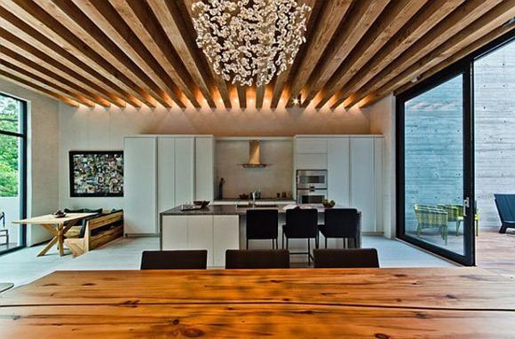 Modelos de casas con techos de viga de madera encantadores for Modelos de techos