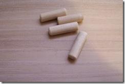 tubillones para la unin de las patas con el tablero