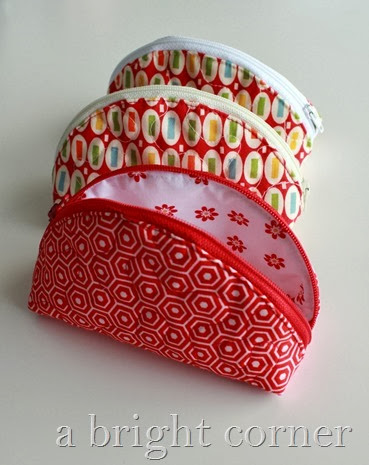 Quilted dumpling pouches from A Bright Corner