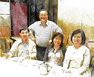 左起 高武伉儷、Gary、楊櫻姿.
