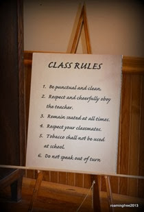 My new classroom rules!