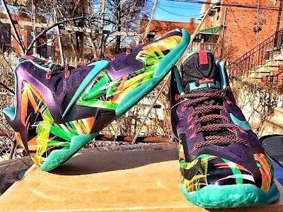 nike lebron 11 pe kings pride 1 01 Nike LeBron XI   Kings Pride / Floral PE