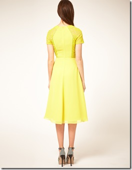 Midi Tea Dress with Pleat Lace1