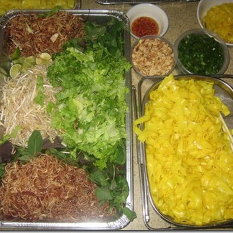 Mì Quảng chay – Kim thực hiện