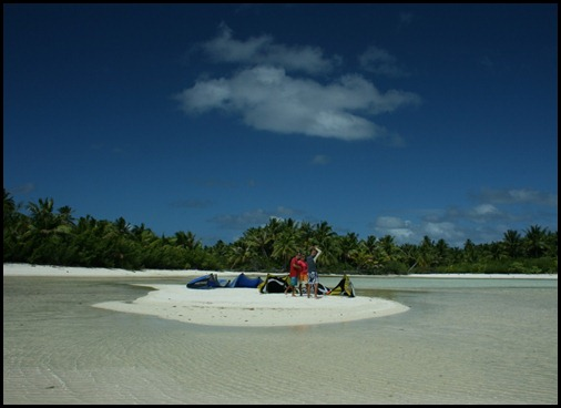 Kiting in Maupiti