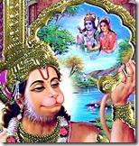 Hanuman remembering Sita and Rama