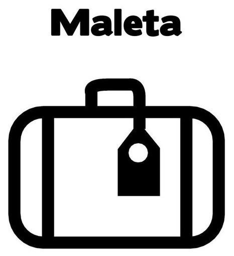 MALETA ABIERTA PARA COLOREAR - Imagui