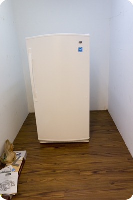 Food Storage Room new floor and freezer