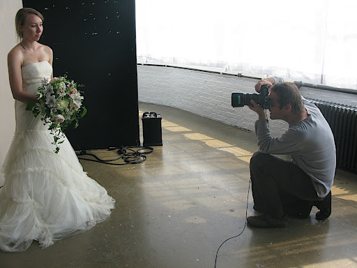 We didn't hire models for our shoot. Instead, staffers like Holly, our style intern, showed off the dresses and bouquets.