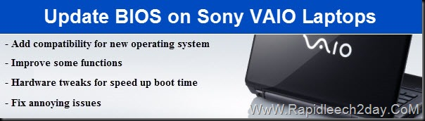 How to Update BIOS on Sony Vaio Laptops to Latest Version