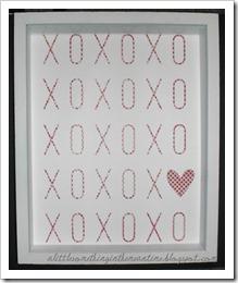Valentine print framed