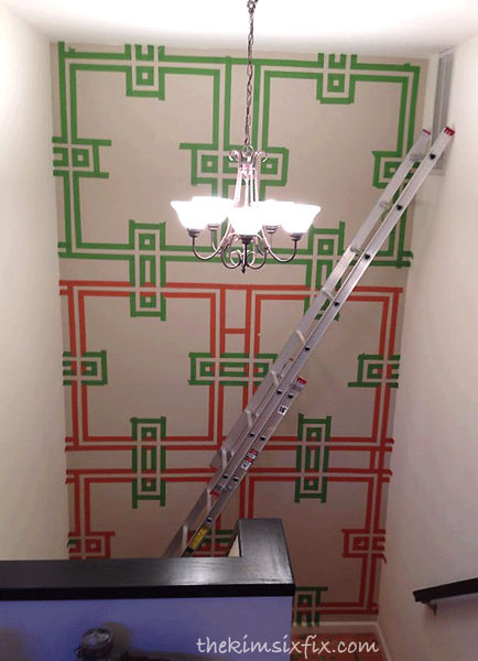 Taping off Paint design