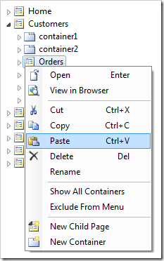 Pasting the Notes controller onto Orders page.