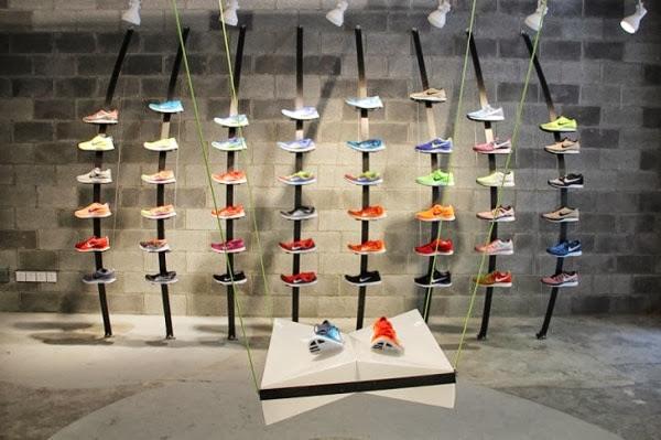 Nike Store de Shanghai construido con materiales reciclados