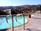 Pool area of the Harmony Motel</p> <p>Pic taken by artist Catherine Pandora( Pic property of Harmony Motel)
