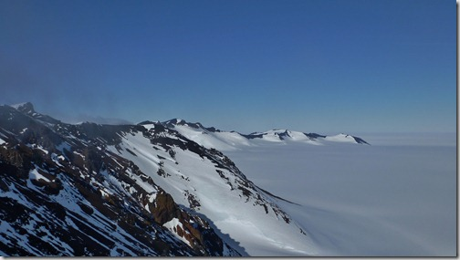 Minna Bluff and the Ross Ice Shelf