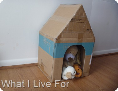 Dog house from a box @ whatilivefor.net