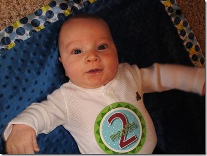 4.  Happy boy at 2 months