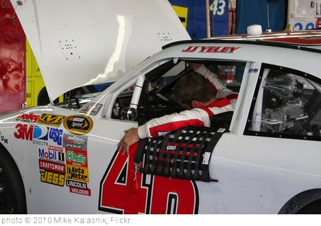 'JJ Yeley getting out of his race car' photo (c) 2010, Mike Kalasnik - license: http://creativecommons.org/licenses/by-sa/2.0/