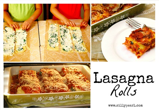 Lasagna Rolls on Multiples in the Kitchen - The Silly Pearl