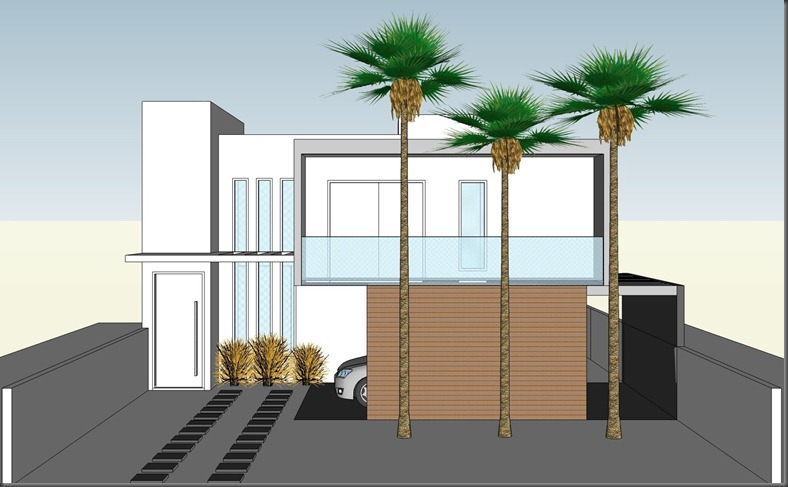 Projeto Residencial - fachada Frontal - Araçoiaba