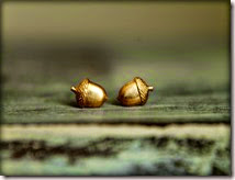 Tiny Acorn Earring Studs