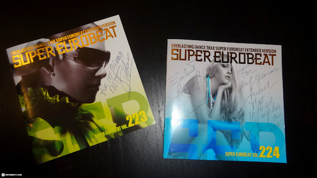 Super Eurobeat 223 & 224 signed by Stefano, ACE & Domino in Pozzolengo, Brescia, Italy