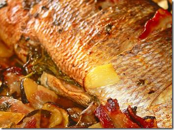 Receita: Peixe Assado com Legumes