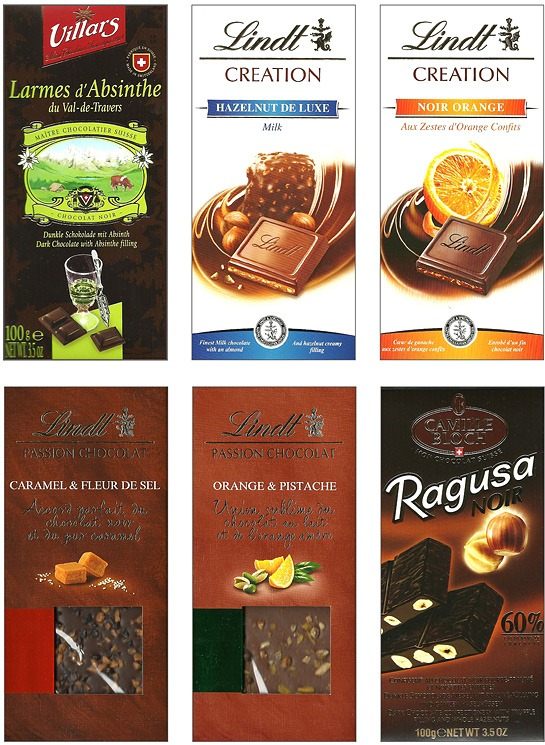 placas chocolates